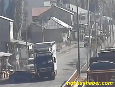 Agri mobesa trafik kaza goruntuleri