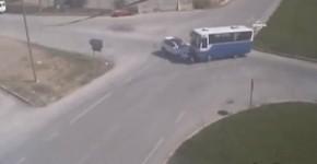 Amasya mobesa kamerasi trafik kaza goruntusu