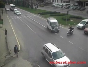 Ankara mobesa kamerasi trafik kaza goruntuleri