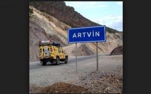 Artvin girişi tabela resmi