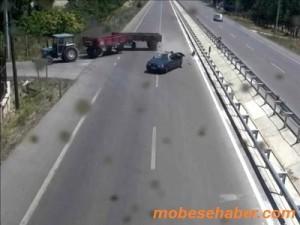 Bilecik mobese kamerasi trafik kaza goruntusu