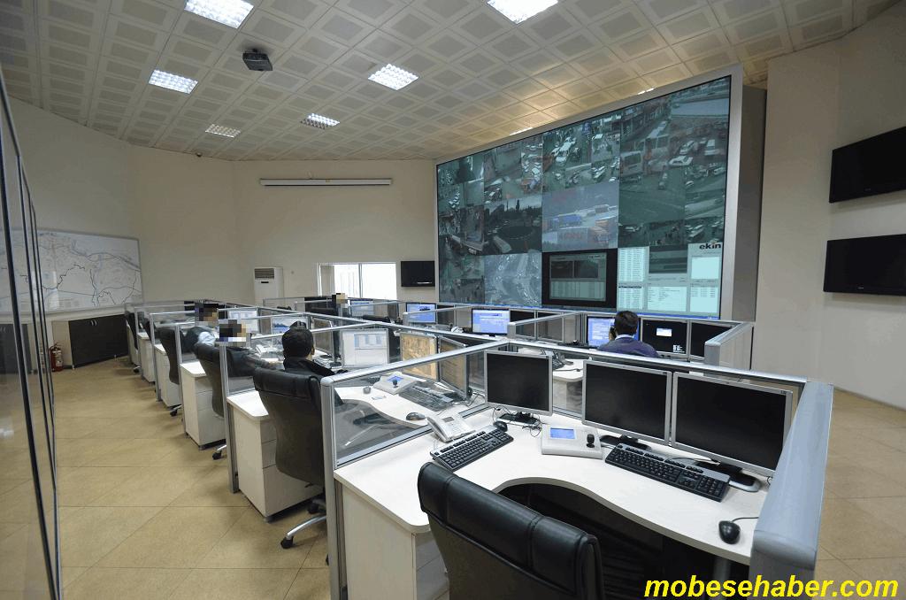 Mobese kameralari canli izleme merkezi