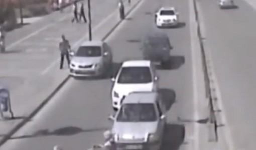 Nevsehir mobese kameraları trafik kaza goruntuleri